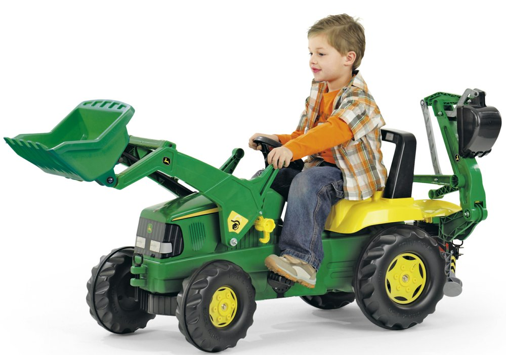 rolly toys 811076 rollyjunior john deere mit heckbagger rolly toys ab 3 jahren kinder. Black Bedroom Furniture Sets. Home Design Ideas