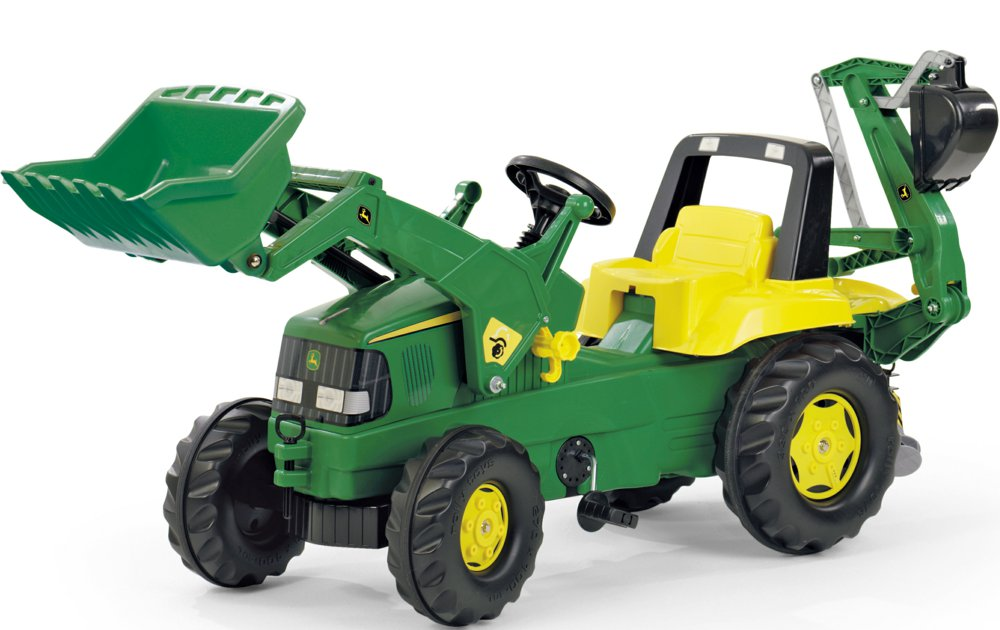 rolly toys 811076 4006485811076 rollyjunior john deere mit heckbagger rolly toys ab 3 jahren. Black Bedroom Furniture Sets. Home Design Ideas
