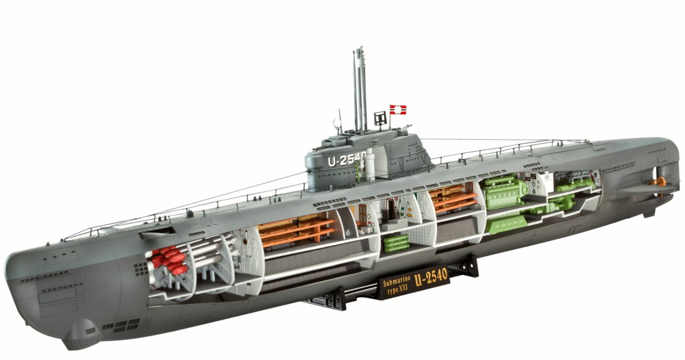 Revell 05078 deutsches u boot typ xxi mit interieur for Deutsches u boot typ xxi mit interieur
