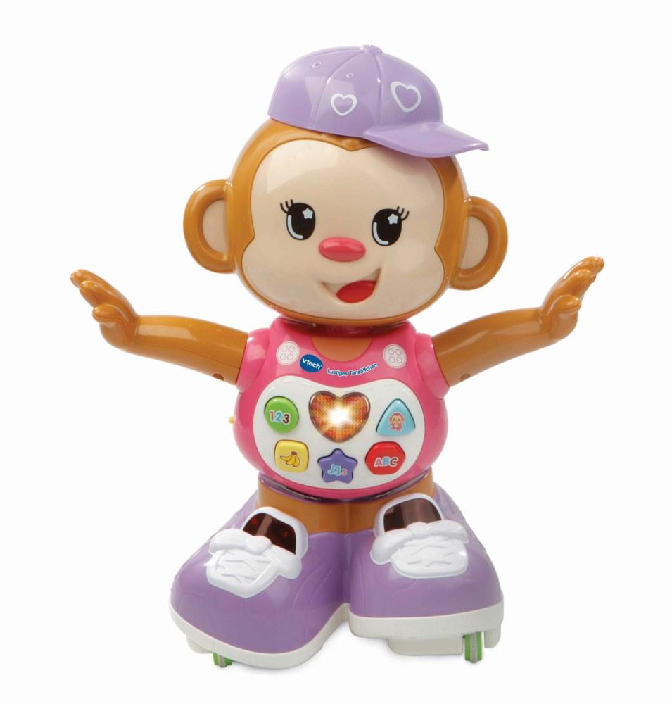 Vtech 80-505954 Lustiges Tanzäffchen Kleinkindspielzeug pink