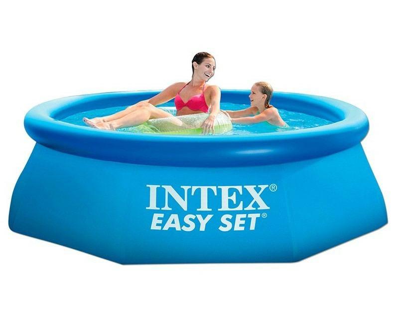 Intex pools 28112gn 6941057400501 easy set pool 244x76 cm for Garten pool leeren
