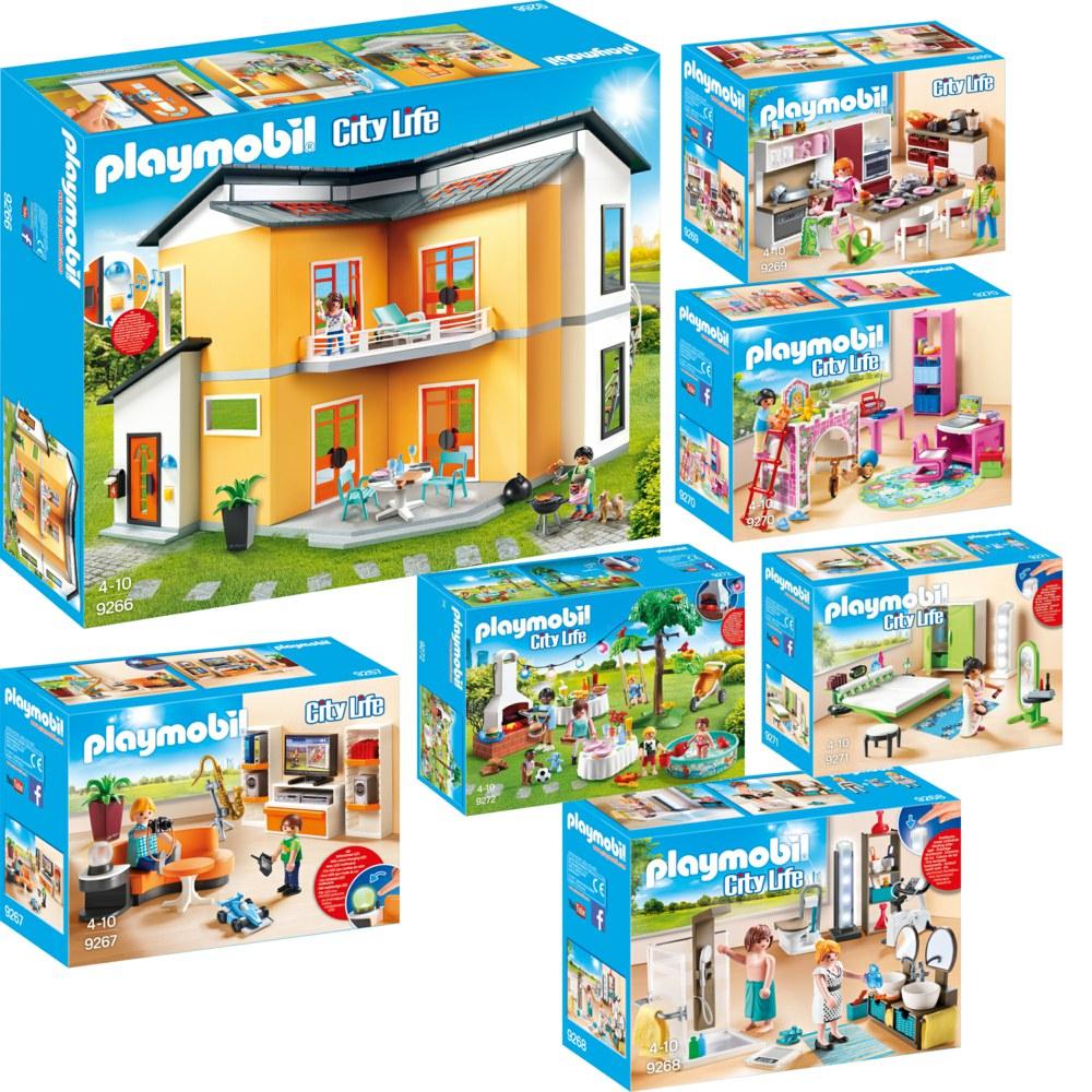 Maison Moderne Playmobil 9266 Sur Pogioshop - Playmobil Modernes ...
