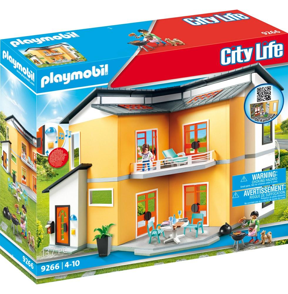 Playmobil playmobil city life 9266 4008789092663 modernes for Modele maison playmobil