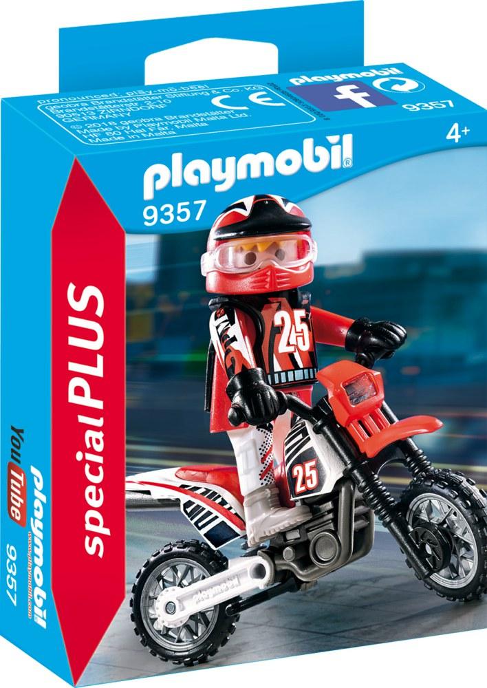 140-9357 Motocross-Fahrer Playmobil Spe