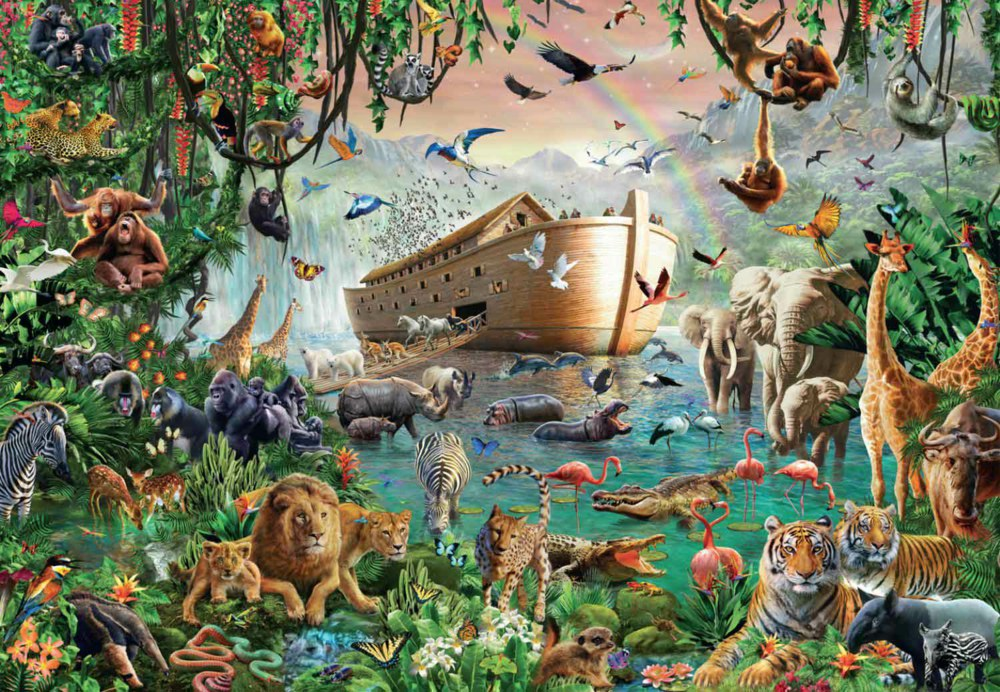 165-18326 Jumbo Puzzle Die Arche Noah Ju