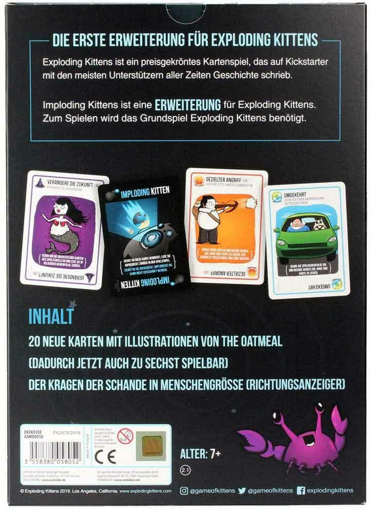 Asmodee Asmd0018 3558380058052 Exploding Kittens Karten Spiel Spielkarten Asmd0018 Exploding