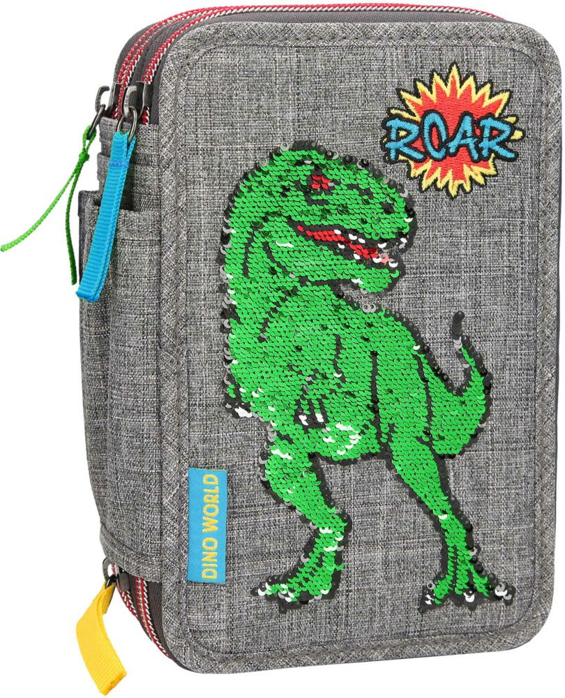 262-10301 Dino World 3-fach Federtasche