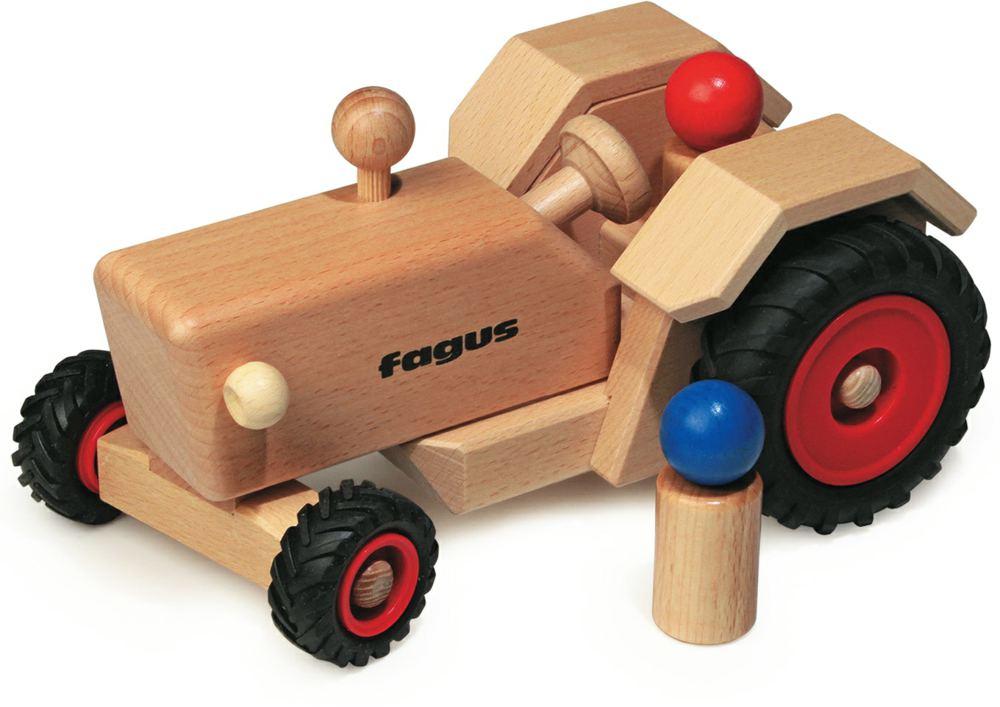 fagus 1021 holz traktor fagus ab 1 jahr kinder holzspielzeug 4039985010212 1021. Black Bedroom Furniture Sets. Home Design Ideas