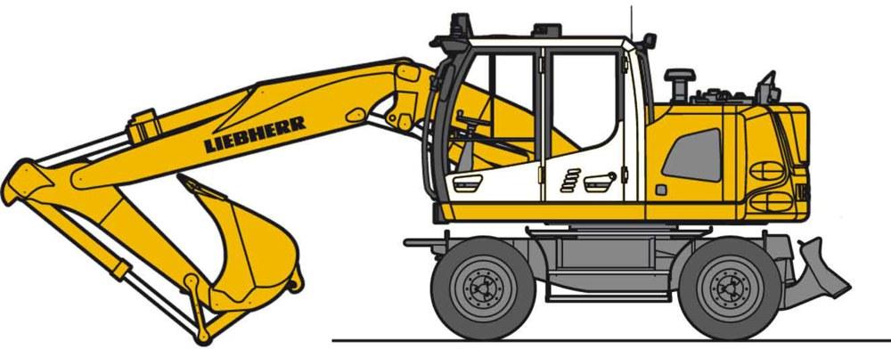 312-LC4251 Liebherr Mobil Bagger mit Löff