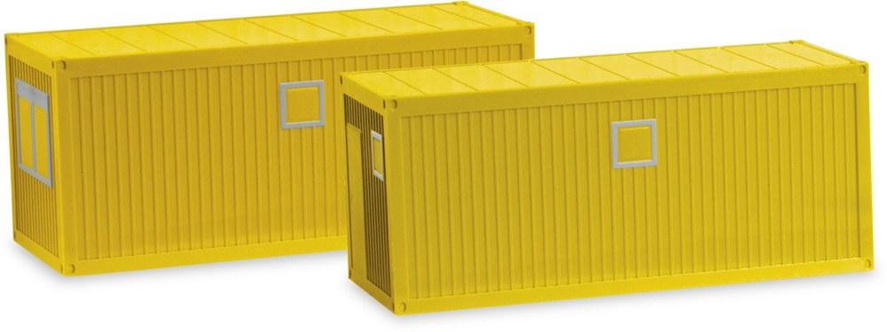 20 ft. Bau- oder Bürocontainer gelb 1:87