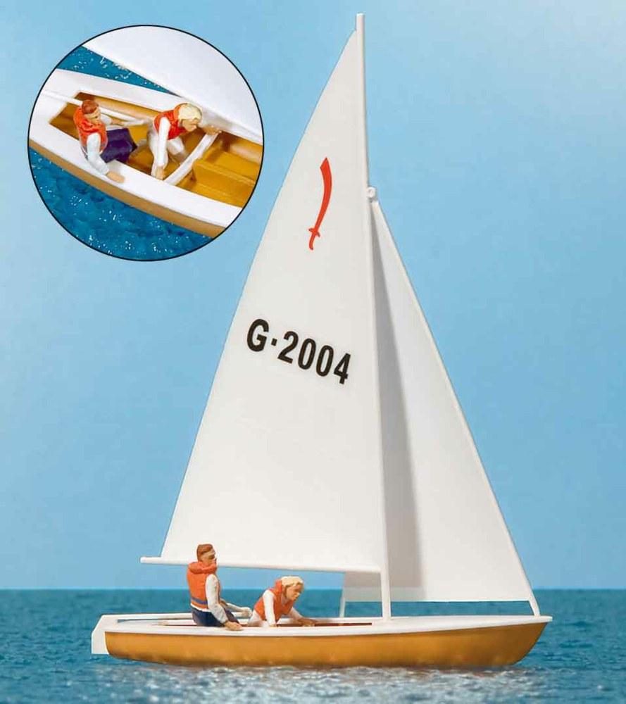 324-10681 Segler (4), Segelboot Korsar