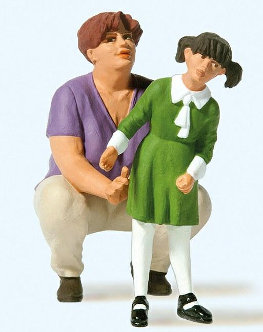 Mutter mit Kindern Preiser 44931 Weihnachtsmann in Sessel