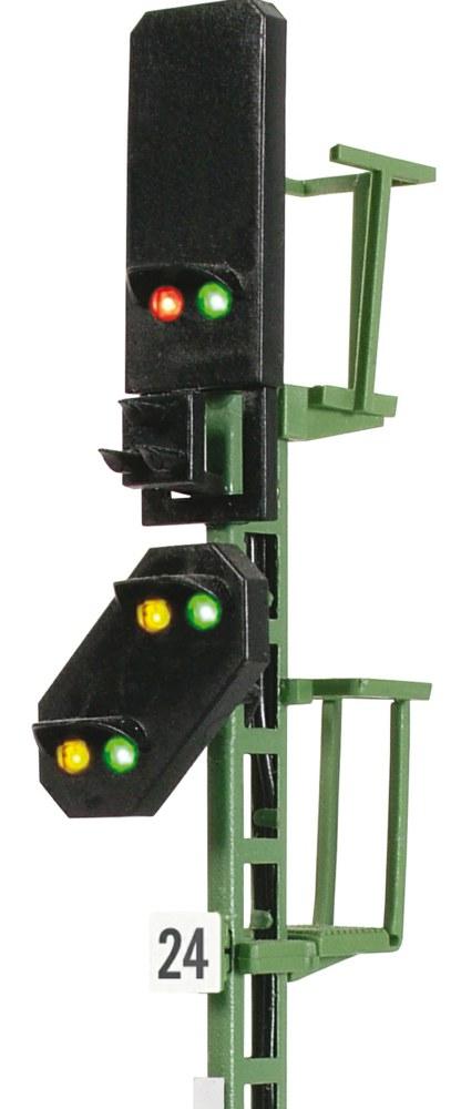 Multiplex-Technologie Viessmann 4724 Licht-Blocksignal mit Vorsignal H0