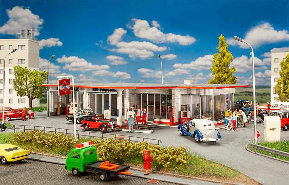 328-130591 Tankstelle Brandshof Faller Mo