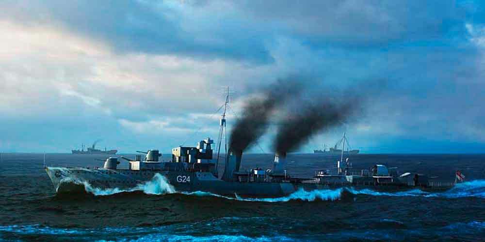 328-755333 HMCS Huron Zerstörer 1944 Trum