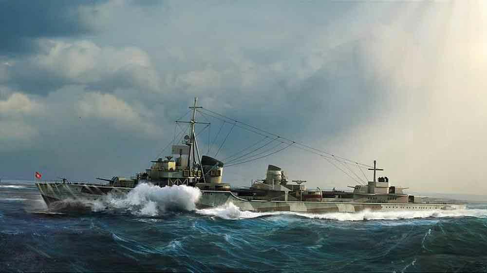 328-755791 Deutscher Zerstörer Z-37 1943