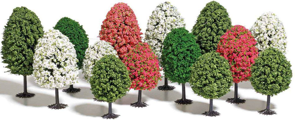 329-9762 14 Frühlingsbäume Busch Modell