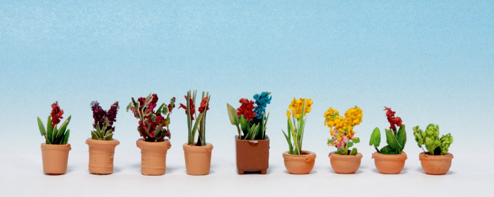 Noch 14016 HO Zierpf.in gr #NEU in OVP# LASER CUT minis + Blumentöpfen