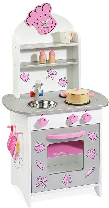 howa 4817 4027914048177 holz kinderspielk che howa ab 3 jahren wei rosa edelstahlfarbig moderne. Black Bedroom Furniture Sets. Home Design Ideas
