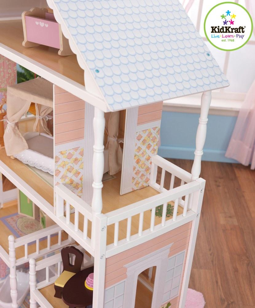 kidkraft 65023 puppenhaus savannah kidkraft ab 3 jahren f r modepuppen bis zu 30 cm 0706943650233. Black Bedroom Furniture Sets. Home Design Ideas