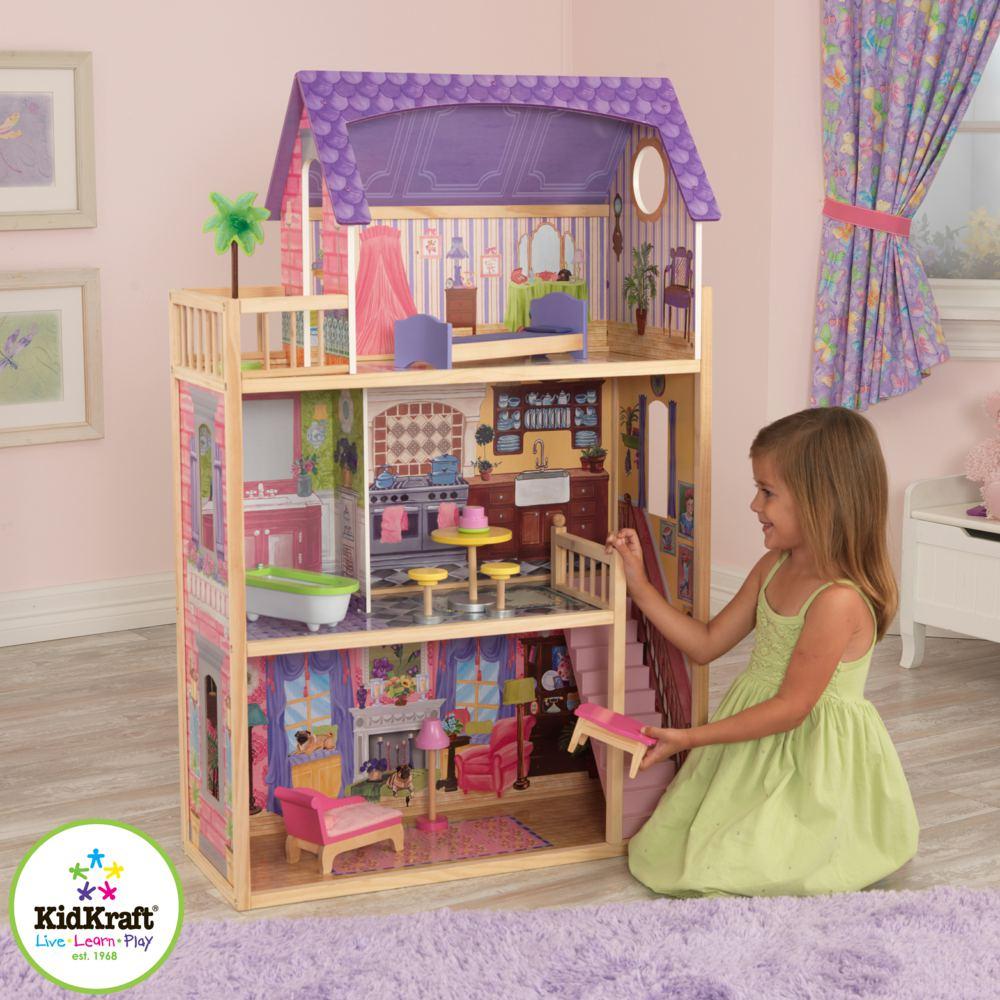 kidkraft 65092 puppenhaus kayla kidkraft ab 3 jahren f r modepuppen bis zu 30 cm g 0706943650929. Black Bedroom Furniture Sets. Home Design Ideas