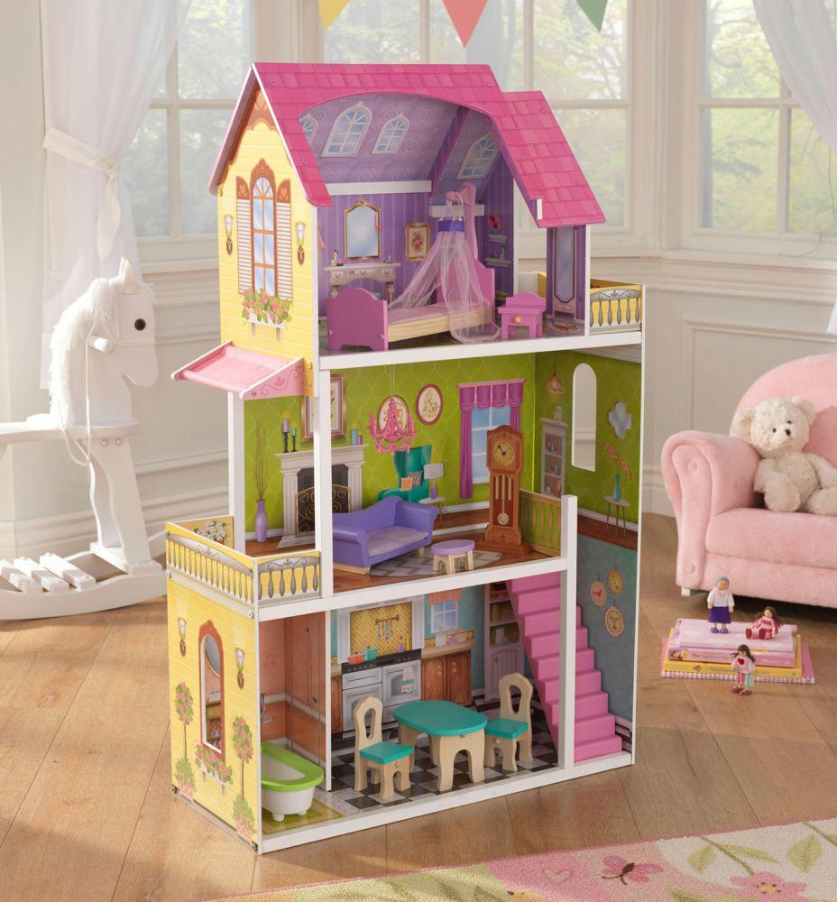 kidkraft 65850 0706943658505 barbie puppenhaus florence. Black Bedroom Furniture Sets. Home Design Ideas