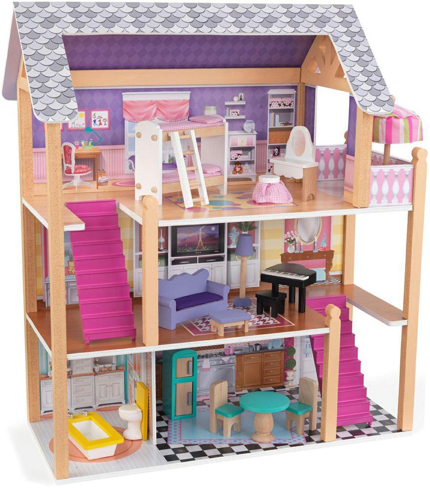 kidkraft 65853 0706943658536 puppenhaus country road cottage kidkraft ab 3 jahren f r 12 5 cm. Black Bedroom Furniture Sets. Home Design Ideas