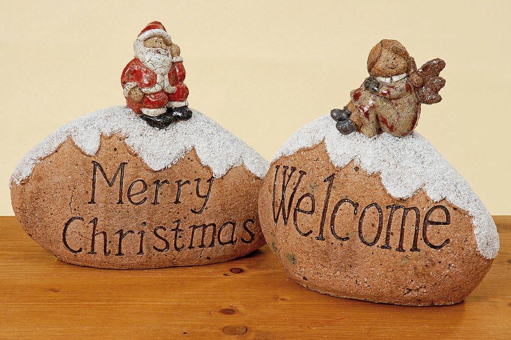 Weihnachtsdeko Straßenbeleuchtung.Boltze 6789100 4020606565235 Stein Figur Mit Spruch Boltze