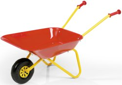 003-270804 Kinder-Metallschubkarre gelb/r