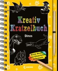 019-8201 Kreativ- Kratzelbuch Dinos Loe