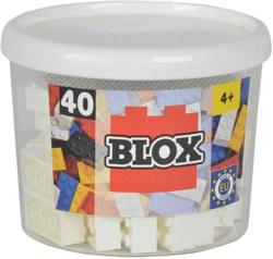 020-104118890 40 Blox Steine in Dose, weiß K