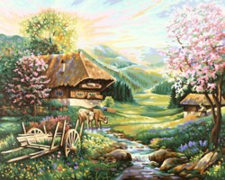 020-609130505 Malen nach Zahlen: Der Frühlin