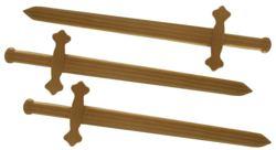 024-9800137 Holz-Schwert Artus, 56cm Sch