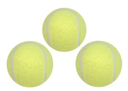 057-76149 3 Tennisbälle Hudora, 3 Gelbe