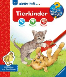 106-32693 aktiv-Heft: Tierkinder Malen,