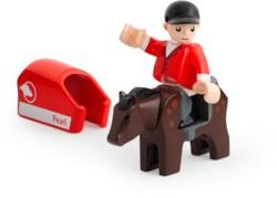 113-33793 Pferd mit Reiter