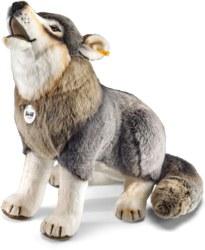 120-075759 Snorry Wolf 60cm, grau sitzend