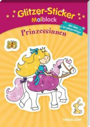 129-378864075 Glitzer-Sticker-Malblock: Prin