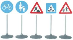 138-2993 Verkehrszeichen-Set, 5-teilig