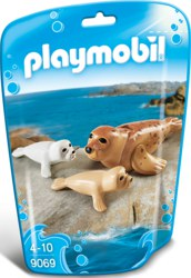 140-9069 Robbe mit Babys Playmobil Fami