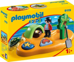 140-9119 Pirateninsel Playmobil 1.2.3 S