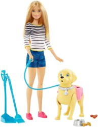 145-DWJ680 Barbie Hundespaziergang Barbie