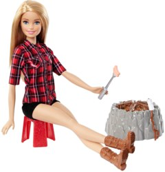 145-FDB440 Barbie Lagerfeuer Set Puppe mi