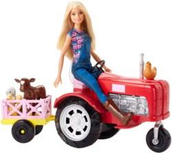 145-FRM180 Barbie Bäuerin Puppe und Trakt