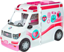 145-FRM190 Barbie 2-in-1 Krankenwagen Spi