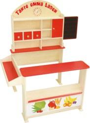 159-92802 Kaufmannsladen aus Holz, farbi