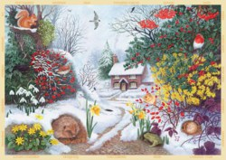 165-11094 Winter Hedgerow Falcon Puzzle,