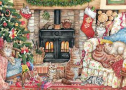 165-11239 Christmas Cats Falcon Puzzle,