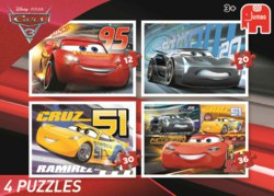 165-19613 Disney Cars 3 - 4in1 Puzzle  J