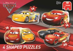 165-19617 Disney Cars 3 - 4in1 Shaped Pu
